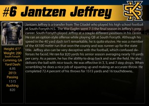 KSU #6 Jeffrey Profile